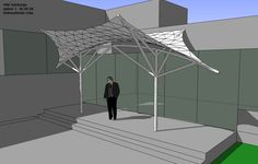 Roof Architecture, Concept Architecture, Membrane Structure, Civil Engineering, Gazebo, Origami, Sketch, Diy, Crafts