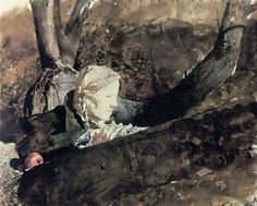 ... In the Orchard, 1973, Copyright Pacific Sun by Andrew Wyeth on artnet