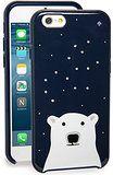 Amazon.co.jp: kate spade ケイトスペード iPhone 6/6s ケース ハード SPARKLE POLAR BEAR ベア シロクマ リッチネイビー [並行輸入品]: 家電・カメラ