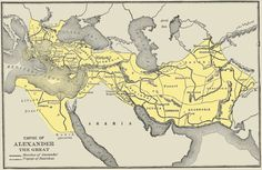 Empire of Alexander the Great - so cool! Would love to get this as a wall map!