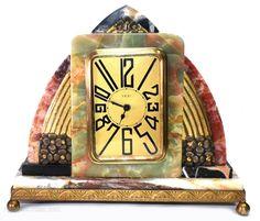 Dep Table Clock / Desk Clock - Asuperb French Art Deco Brass, Marble - home-dekor, Motif Art Deco, Art Deco Decor, Art Deco Stil, Art Deco Design, Decoration, Mantel Clocks, Clock Decor, Desk Clock, Art Nouveau