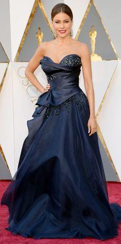 Sofia Vergara in a navy gown