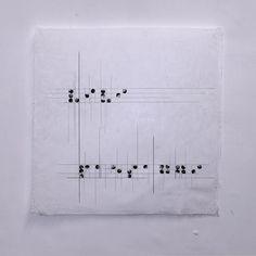 """VIVI PAESAGGI PAOLO SCARFONE Stampa ink-jet su carta di cotone autoprodotta, 70x70cm, , 2013. Oggi comunicazione e fruizione della natura vengono sempre meno rispetto all'imperversare delle nuove tecnologie. Le relazioni tra individui non sono più esperite, vissute, ma """"digitate"""". Nel mio lavoro piccoli paesaggi compongono frasi nel linguaggio Braille inerenti al """"vedere il mondo"""".."""