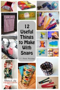 12 Useful Things to Make with Snaps! | Easy Sewing For Beginners