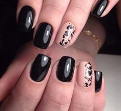 Awesome These Black Polish Nail Art Designs are really fantastic. I know only 5 Black Polish Nail Art Designs but through this i got so many Black Polish Nail Art Designs. Glad you found this post useful. Thanks for research on black nail art designs. Black Nail Designs, Best Nail Art Designs, Acrylic Nail Designs, Black Nail Art, Black Nails, Black Polish, Nail Art Design Gallery, Beige Nails, Nail Patterns