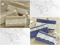 Beautiful clutches for a beach wedding and a special gift to bridesmaids.  You can select FABRIC: Burlap OR Blue-Anchor fabric.  Please, select LACE.  + elegant and functional + handmade + quilted + lined with cotton fabric + two inside slip pockets + zipper closure  Size: W-24cm (9 1/2) *** H-12cm (5) *** D-2cm (3/4)  Please, feel free to contact me with any questions you may have!  Back to shop: www.etsy.com/shop/persabags  All of my products are handmade by me with grea...