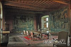 The Great Salon in the Chateau of Montal restored and refurnished by Maurice Fenaille.