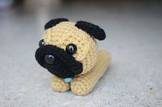 Amigurumi Dog  Pug Lying by ZaalimDolly on Etsy, $10.00