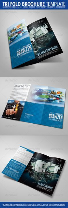 Tri-Fold Brochure  #GraphicRiver         • Brochure size 8.5×11 (3mm bleeds) • 300 DPI • CMYK • Print Ready • Layered and Organized in Folders • Easy to Customize the Title, Text and Colors • Quick Photo Replacement • Font info: Miso and Steelfish    *Please note * The preview images are NOT included in the download • These are just for illustration purpose.      Created: 14April11 GraphicsFilesIncluded: PhotoshopPSD Layered: Yes MinimumAdobeCSVersion: CS PrintDimensions: 8.5x11 Tags…