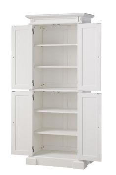H Two Door Wood Kitchen Pantry Free Standing