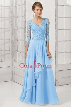 Cheap dress pants for short women, Buy Quality dress mature directly from China dress sandals Suppliers: New Fashion Sleeve V-Neck Lace Chiffon Floor Length Long Blue Evening Dresses Prom Dresses vestidos de festa Custom Mob Dresses, Bridal Dresses, Bridesmaid Dresses, Party Dresses, Dresses 2016, Dress Prom, Blue Evening Dresses, Long Evening Gowns, Blue Dresses