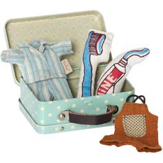 Maileg Bedtime Suitcase with 2 Micro Size Outfits Tupfen d93f12a3704be