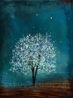 Sapphire Wind 16x20 by sarusdesignart on Etsy, $75.00