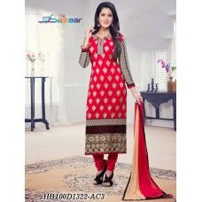 American Rose Coloured Salwar Suit ( 20% Discount)