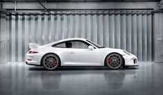 #Porsche #911 #GT3: The wheels are platinum-coloured and made from a forged alloy. The central locking device with 'GT3' logo is derived from motorsport. Learn more: http://link.porsche.com/gt3?pc=99181PINGA  Combined fuel consumption in accordance with EU 5: 12,4 l/100km, CO2 emissions: 289 g/km