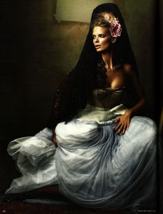 Magazine: Vogue Germany  Issue: December 2008  Model: Julia Stegner  Photographer: Alexi Lubomirski