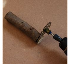 Wooden buttons diy... with Dremel multi-tool.