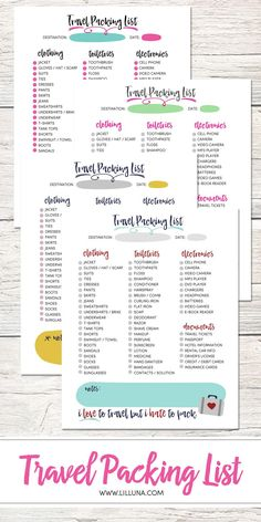 Diy Cruise Itinerary  Free ChildrenS Packing List Printable
