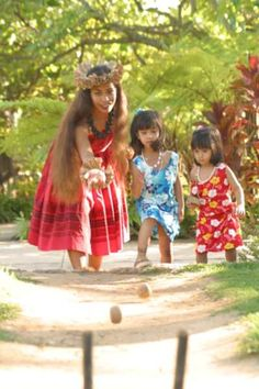 Pineapple Bowling One of the luau games for kids that is popular with all ages (even grown-ups) is Pineapple Bowing. A coconut is used like a bowling ball to knock over pineapples. Since coconuts aren't perfectly round, this game produces lots of laughs. Really young child might get frustrated so let the child stand close so they can knock down the pineapples no matter how unruly the coconut ball. Since the pineapples may be too heavy to knock down with the husked type of coconut you buy at…