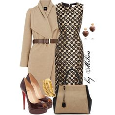 A fashion look from December 2012 featuring cocktail dresses, oasis coats и christian louboutin pumps. Browse and shop related looks.