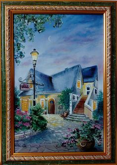 Painting in the frame. Size of the picture in the frame 20 х 30 cm (9.7 х 13.7 inches) Materials: oil on canvas. Author - Olga Derevoriz. This picture will be a wonderful addition to your interior, attracting admiring glances all around, and it will be a best gift for any holiday! If you want to keep the memory of your unforgettable trips - write and send your photos to me at any time, I will help turn them into colorful paintings, that will long to please you and your family! Importantly…