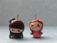 2 Cute Clay Chibi Girls by CraftyOlivia.deviantart.com on @deviantART