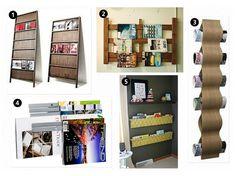 Some wall magazine storage options