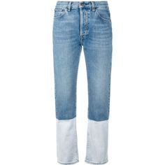 Ports 1961 bootcut cropped jeans ($395) ❤ liked on Polyvore featuring jeans, pants, denim, bottoms, trousers, bootcut jeans, cropped jeans, boot cut jeans, cropped bootcut jeans and blue jeans