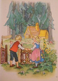 Fairytales cottages illustrations | ... com Books Single Pages Children's Illustrat… Grimms' Fairy Tales