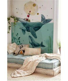 Ocean Bedroom Kids, Ocean Room, Baby Bedroom, Baby Boy Rooms, Cute Bedroom Decor, Baby Decor, Kids Decor, Cool Kids Rooms, Kids Room Paint