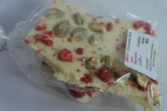 White chocolate Strawberry and Pistachio Bark by SweetieLoveUK