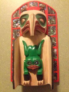 Haida head dress ~ Eagle frog made by Les Isaacs