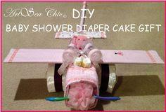 DIY Airplane Diaper Cake Gift