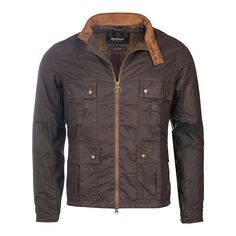 Buy Barbour International Chico Wax Jacket, Olive, S Online at johnlewis.com