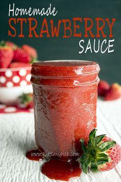 How To Make Strawberry Sauce #desserts #fruit Strawberry Sauce, Strawberry Recipes, Strawberry Delight, Strawberry Fields, Menu Rapido, Scones, Brownies, Salsa Dulce, Pots