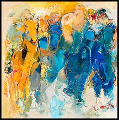 Bernadette Leijdekkers | Dieren Abstract Digital Art, Abstract Art, Maria Emilia, People Art, Figure Painting, Horse Racing, Painters, Modern Art, Mixed Media