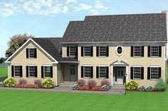 Colonial Exterior - Front Elevation Plan #75-111 - Houseplans.com