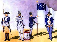 4th Massachusetts Regiment with Rhode Island Regiment