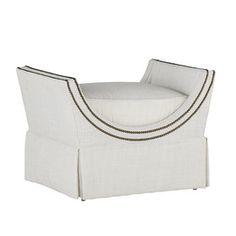 Gayle Twin Bench - Contemporary, Mid-Century / Modern, Transitional Upholstery / Fabric Ottomans & Pouf by Gabby
