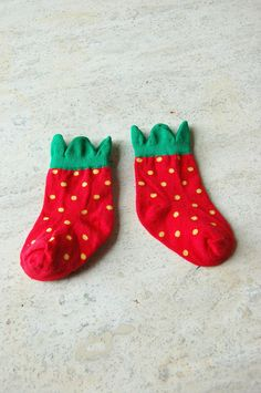 Strawberry socks #toddler #baby