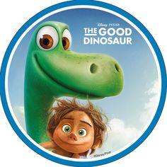 The Good Dinosaur Sugar Plaque - Arlo & Spot Arlo Und Spot, Dinosaur Printables, The Good Dinosaur, Dinosaur Party, Disney Pixar, Good Things, Christmas Ornaments, Holiday Decor, Drawings