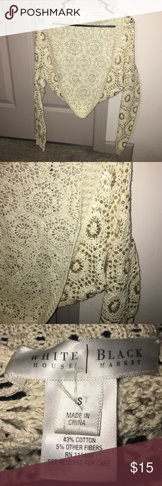 White House Black Market sweater White House Black Market gold sequin sweater. Size small. Made of ramie and cotton. White House Black Market Sweaters Shrugs & Ponchos