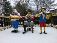 LEGO pirates play in the snow at the LEGOLAND Windsor Resort