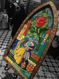 I want this sooooo bad! Beauty and The Beast Stained Glass Window Frame