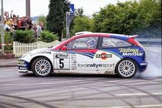 Colin McRae Ford Focus Rally Drivers, Rally Car, My Dream Car, Dream Cars, Rallye Wrc, Colin Mcrae, Martini Racing, Ford News, Ford Escort