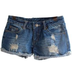 awesome FINEJO Women's Ripped Hole Jeans Shorts Denim Jeans XL [Apparel]