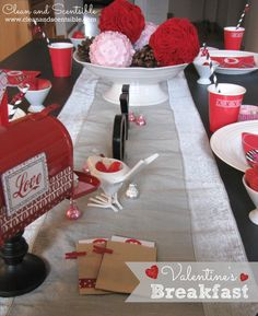 Fun Valentine's Day Breakfast Ideas - Clean and Scentsible Valentines Breakfast, Love Valentines, Valentine Crafts, Treats, Cleaning, Table Decorations, Sweet, Fun, February