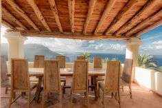 The views from the Wellness Space terrace are mesmerising. Another reason why our villa is so perfect for retreats. A gorgeous handmade table and local sabina wood porch make this the perfect place to take in the endless sea views..
