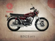 Yamaha Rd125 1973 Print By Mark Rogan