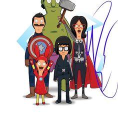Bob's Burgers as The Avengers
